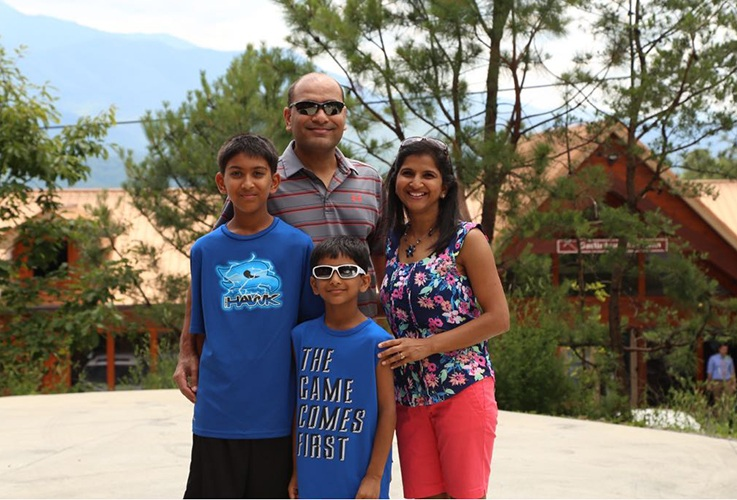 Dr. Patel and family