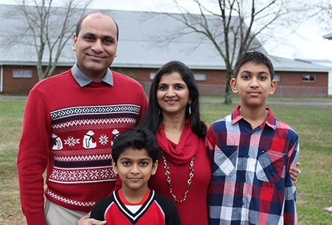Dr. Patel and his family